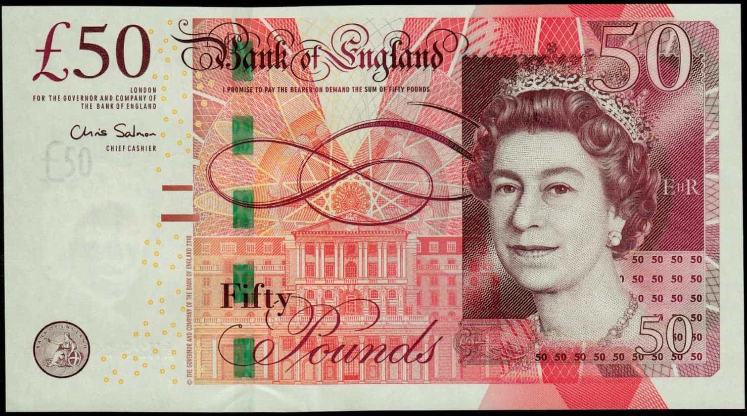 50 Pound Sterling  Note