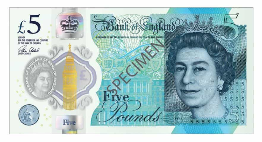 5 Pound Sterling  Note